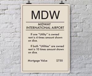 airport, monopoly, and poster image