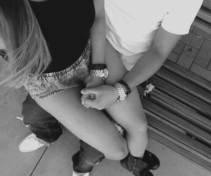 cute couple, teens, and holding hands image