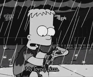 pizza, love, and simpsons image
