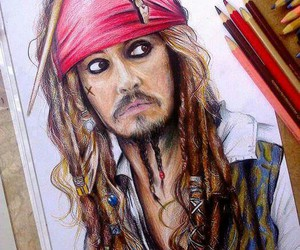 drawing, jack sparrow, and art image