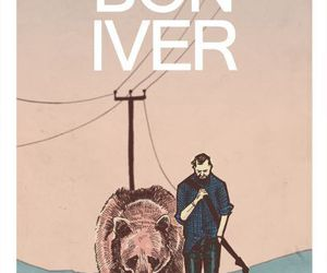 bon iver, music, and illustration image
