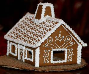 decoration, gingerbread house, and sugar image