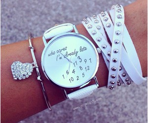 girly, heart, and watch image