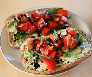 bruschetta, delicious, and dinner image