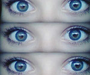 blue and green, mascara, and ♥ image
