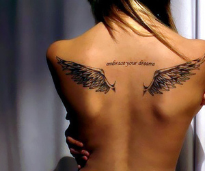 back, tattoo, and wings image