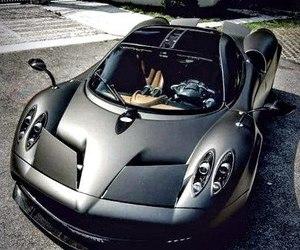 car, black, and pagani image