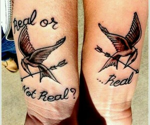 tattoo, couple, and hunger games image
