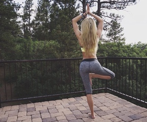 fitness, yoga, and girl image