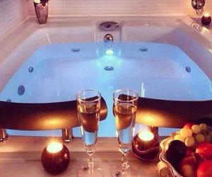 bath, fruit, and romantic image