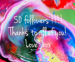 thanks and 50 followers image