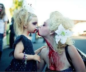 zombie, blood, and kiss image