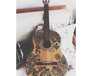 guitar, music, and beautiful image