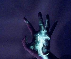 hand, dark, and black image