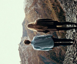 couple, boy, and landscape image