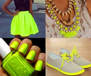 neon and shoes image