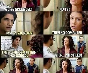scott, stiles, and teen wolf image