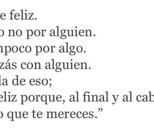felicidad, amor, and merecer image