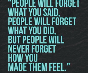 quote, people, and forget image