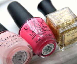 nail polish, nails, and pink image