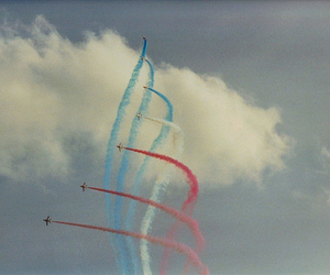 blue, planes, and red image