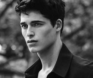 black and white, boy, and eye candy image