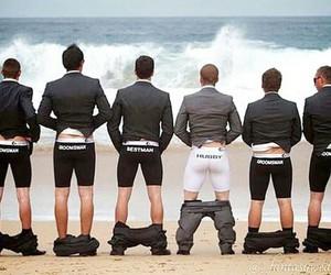 wedding, funny, and beach image