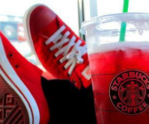 red and starbucks image