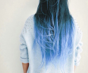 blue, ombre, and hair image