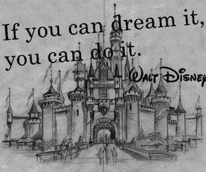 disney, Dream, and walt disney image