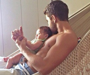 baby, boy, and daddy image