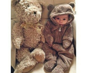 adorable, baby, and bear image