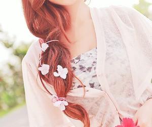 hair, kfashion, and korea image