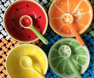 bowl, orange, and cute image