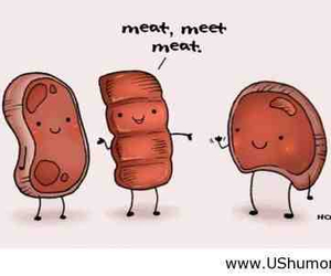 funny, meat, and meet image