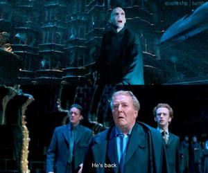 harry potter, ministry of magic, and voldemort image