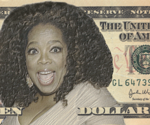 dollar bill, oprah, and buzzfeed image