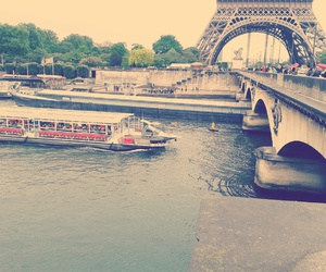eiffel tower, paris, and river image