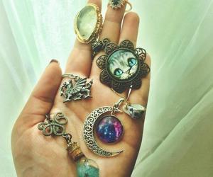dragon, moon, and crystal image