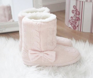 pink, winter, and boots image