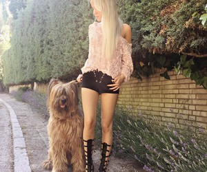 blonde, dog, and outfit image