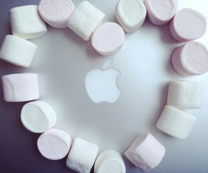 apple, macbook, and marshmallow image