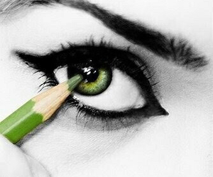 art, green, and beautiful image