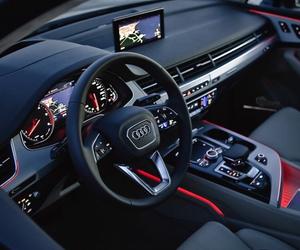 audi, car, and interior image
