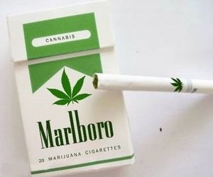 cigarette, weed, and marlboro image