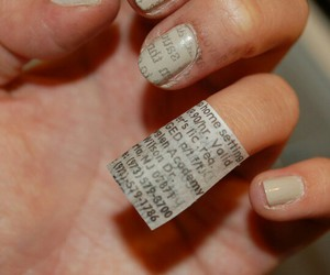 cool, nails, and newspaper image