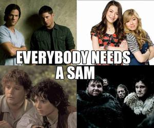 Sam, supernatural, and icarly image
