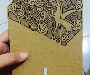 art, card board, and doodle image