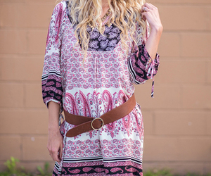 aztec, dress, and coral image