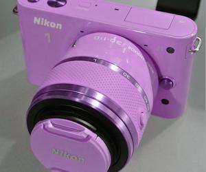 pink, camera, and nikon image